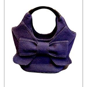 Kate Spade ♠️ women's wool handbag purse big bow